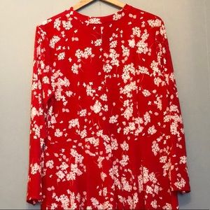 Eloquii sz20 red n wht fit n flare dress!